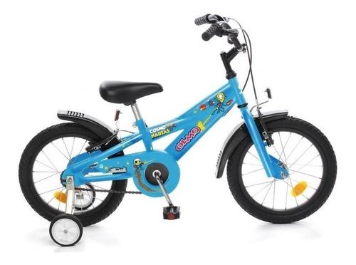 Bicicleta Olmo Rod 16  Color Negra O Celeste De Acero