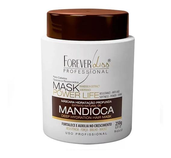 Mascara Hidratante E Crescimento Mandioca 250g Forever Liss