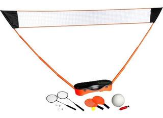 Kit 3 Em 1 Tênis, Vôlei E Badminton Portátil Pelegrin 3001