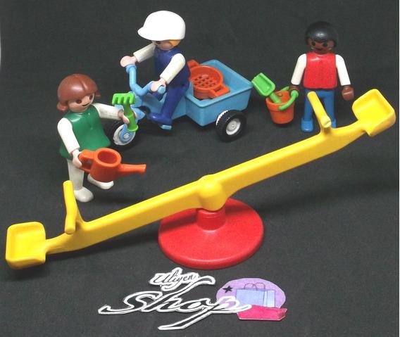 Juguetes Playmobil Usados, Niños Con Triciclo Y Sube Y Baja