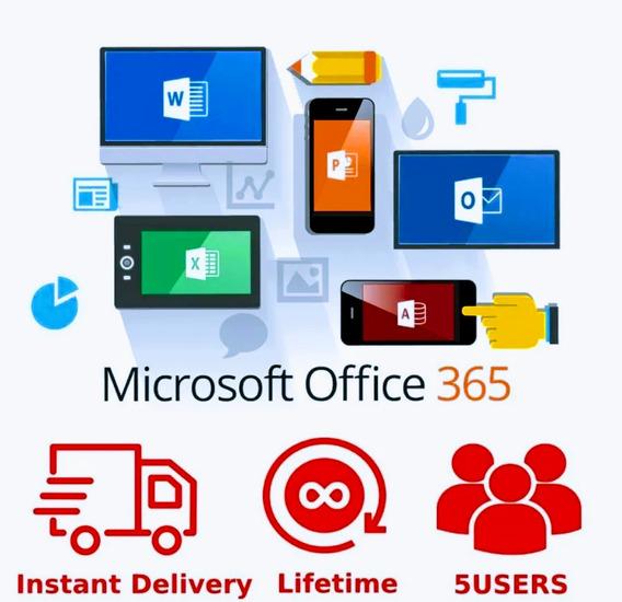 Office-365 + One-drive 5tb+Gdrive-ilimitado