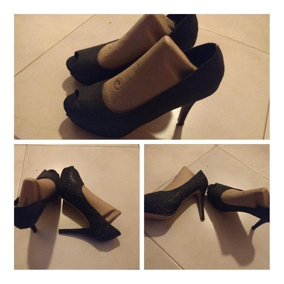 Zapatos Stilettos Negros 38-39