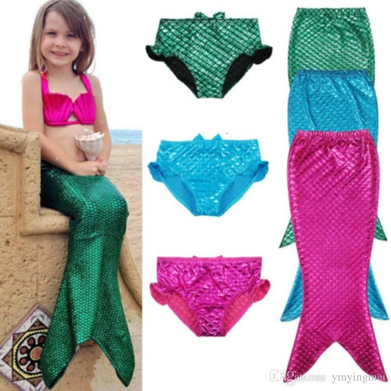 Traje De Baño Para Niñas Sirena Sirenita
