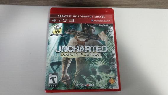 Jogo Ps3 - Uncharted 1 Drakes Fortune - Ação / Aventura