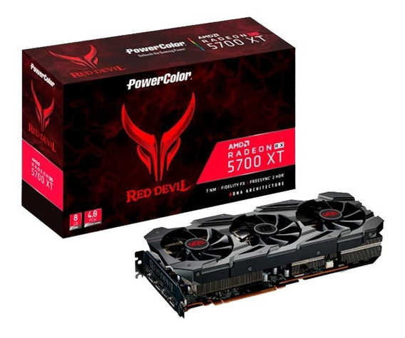 Placa De Video Powercolor Radeon Rx 5700 Xt Red Devil 8gb