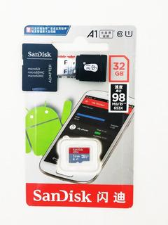 Cartão Sd Sandisk 32 Gb+ Adaptador Sd+ Adaptador Sd Usb