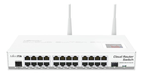 Mikrotik Cloud Switch 24 Giga 1 Sfp+ Wifi 2 Antenas C/fuente
