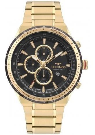 Relógio Technos Masculino Skymaster Dourado Os10fa4p