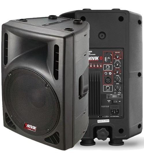 Caixa Amplificada Ativa 100w Rms 2 Mixer 8.pol Evo100a Novik