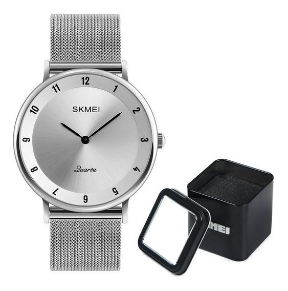 Reloj Skmei 1264 Caja Metálica Elegante Acero Inoxidable S