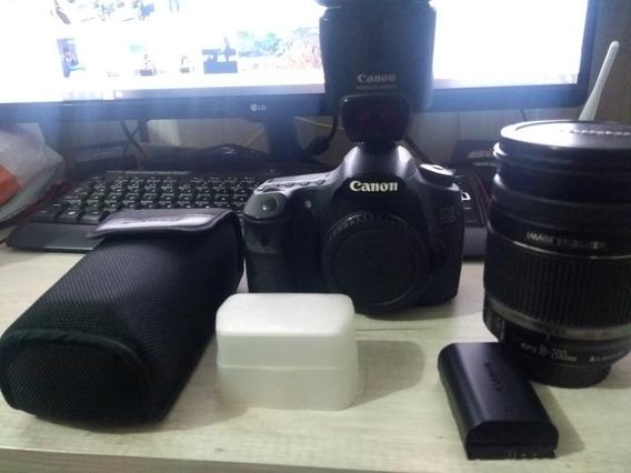 Câmera Canon 60d Com Lente Do Kit E Flash Canon