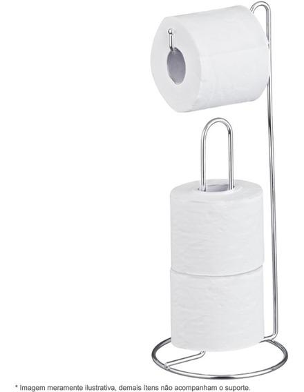 Suporte De Chão Porta Rolo Papel Higiênico Banheiro Cromado Até 4 Rolos Lavabo Passerini Envio Imediato Com Nota Fiscal