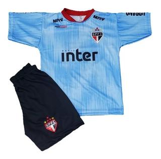 Novo Conjunto São Paulo Dani Alves Azul Camisa + Calção