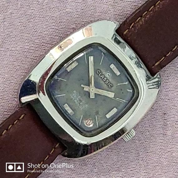 Relógio Suíço Classic Automático 25jewels Aço Inox