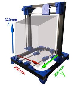 Extrutura Frame Em Alumínio Para Impressora 3d Cartesiana