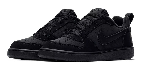 Tênis Nike Infantil Court Borough Low Couro Original - Nº 37