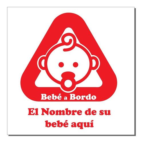 Bebe A Bordo /sticker Adhesivo Para Autos