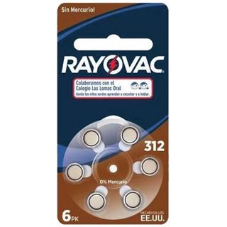Pilas Para Audifonos Rayovac 312 Blister X 6 U. - Vto 2023
