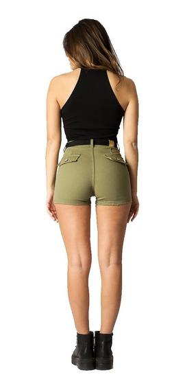 Short Jean Mujer Elastizado Tiro Alto Varios Colores