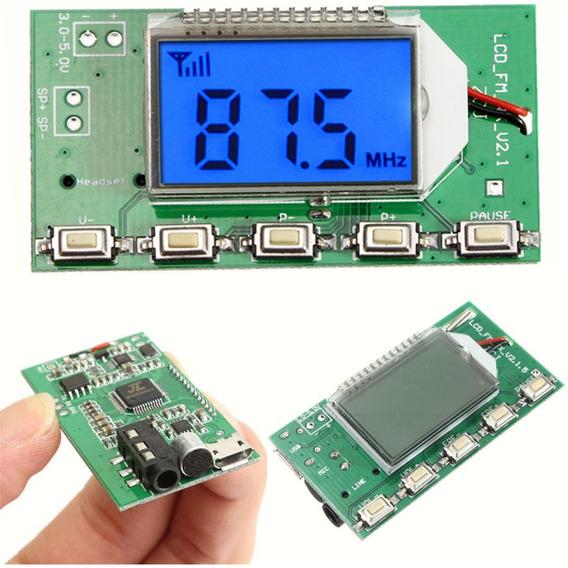 Placa Transmissor Fm Pll Modulo Display Conexão Com Pc Usb
