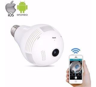 Lampada Espia Ip Led Wifi Panorâmica Segurança Residencial