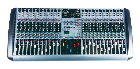 Mesa De Som 24 Canais Dj Mp3 Usb Digital Microfones Violão