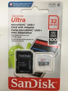Tarjeta De Memoria 32g 100 Mb/s Sandisk Ultra