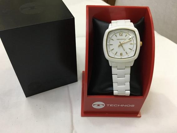 Relógio De Pulso Technos 23035ddn Branco Quadrado Feminino