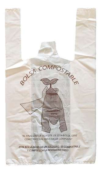 Bolsa Compostable Camiseta Chica 3 Kilos