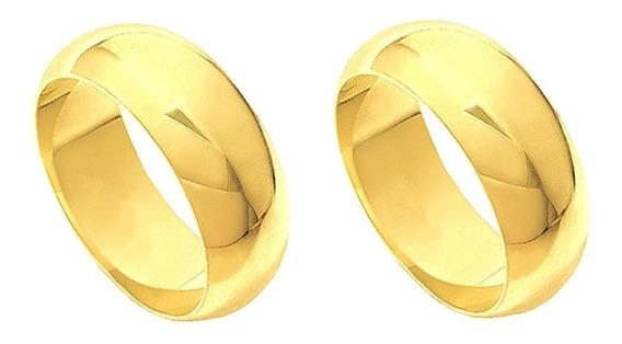 Aliança 5mm 6 Gramas Casamento Abaulada Frete Grátis