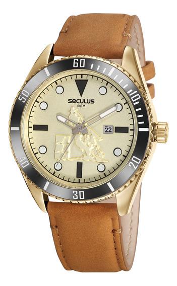 Relógio Seculus Country Pulseira De Couro 20830gpsvdc1 C/nfe