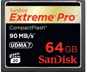 Cartão De Memória Compactflash Sandisk 64gb Extreme Pro 600x