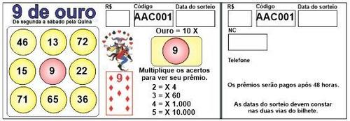 Imagem 1 de 7 de Bilhetes Para Loterias