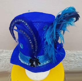 Cartola Azul Exclusiva - Customizada - Feita A Mão