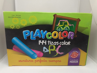 Tizas Playcolor X 144 Unidades Color