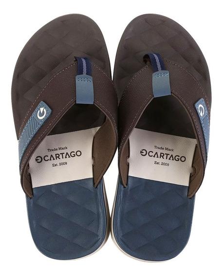Chinelo Cartago Malaga Masculino Preto Ou Azul Calçado