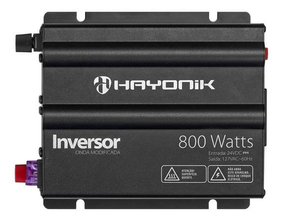Inversor Onda Modificada Hayonik 800w Conversor 24vdc/127v