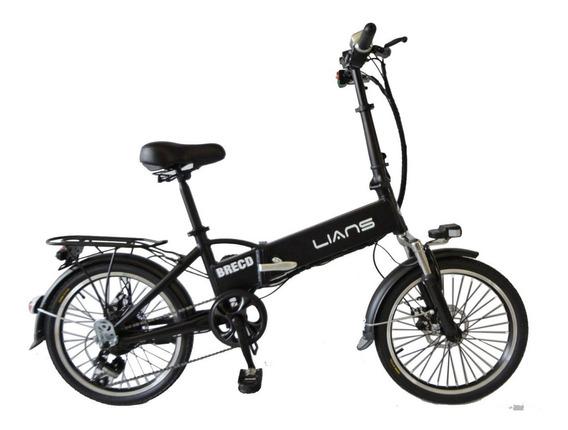 Brecd- Bicicleta Eléctrica Lians Plegable De Aluminio Aro 20