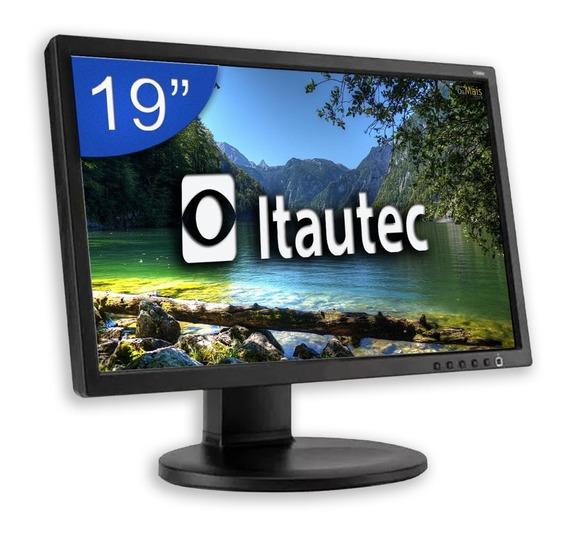 Monitor 19° Wide Lcd Em Perfeito Estado Promoção Aproveite