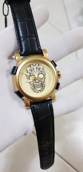 Relógio Skone Skull Cranio Caveira Pronta Entrega