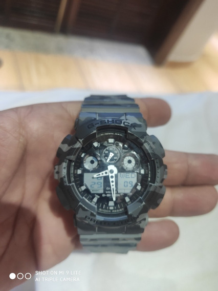 Relógio G-shock Ga-100cm-8adr Camuflado