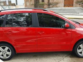 Volkswagen Suran 1.6 Highline Full Full Rojo Tornado 2010