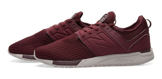 Tenis New Balance 247 Burgundy Casuales Running Hombre