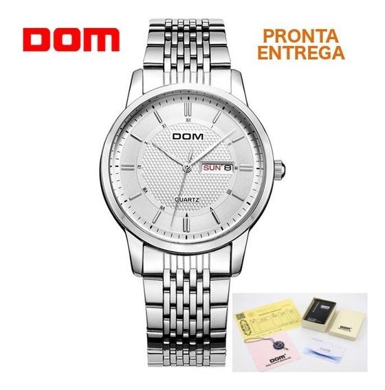 Relógio Executivo Masculino Negócios Dom® + Caixa + Certific