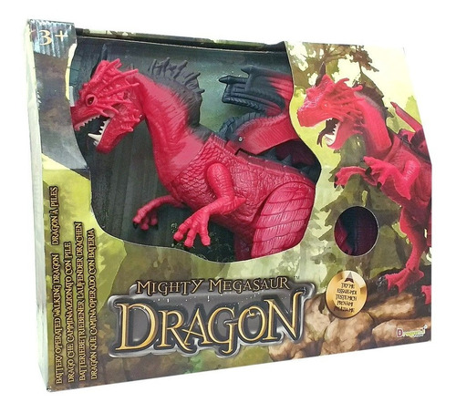 Dragon De Juguete Dinosaurio Luz Sonido Y Movimiento