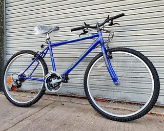 Mountain Bike Robinson Azul Rodado 26 18 Cambios Nueva.