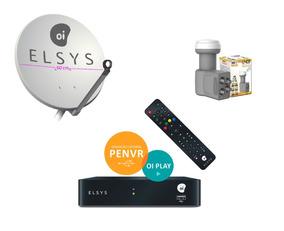 Receptor Oi Livre Elsys Etrs 44 + Antena + Lnb4 + 15m Cabos