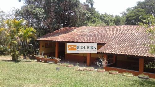 Chácara Com 3 Dormitórios À Venda, 1400 M² Por R$ 480.000 - Éden - Sorocaba/sp - Ch0035