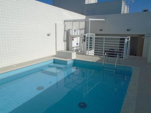 Apartamento Com 1 Dormitório Para Alugar, 50 M² Por R$ 2.200,00/mês - Boqueirão - Santos/sp - Ap4073