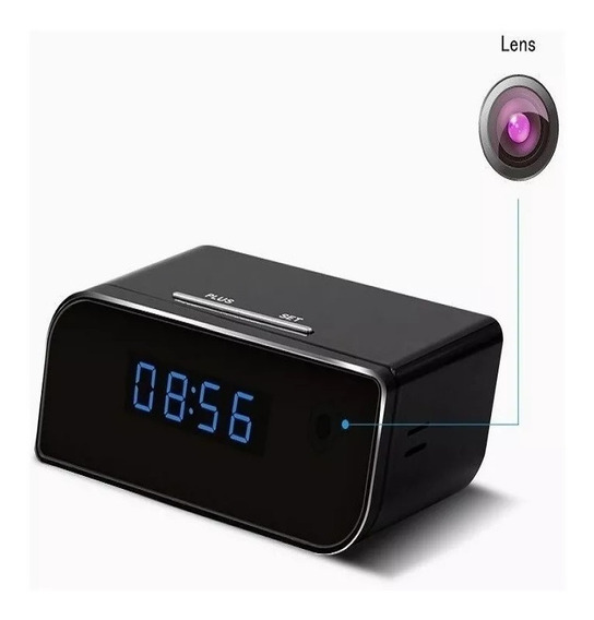 Câmera Espião Rádio Relógio Ip Online Hd 1080p Visão Noturna